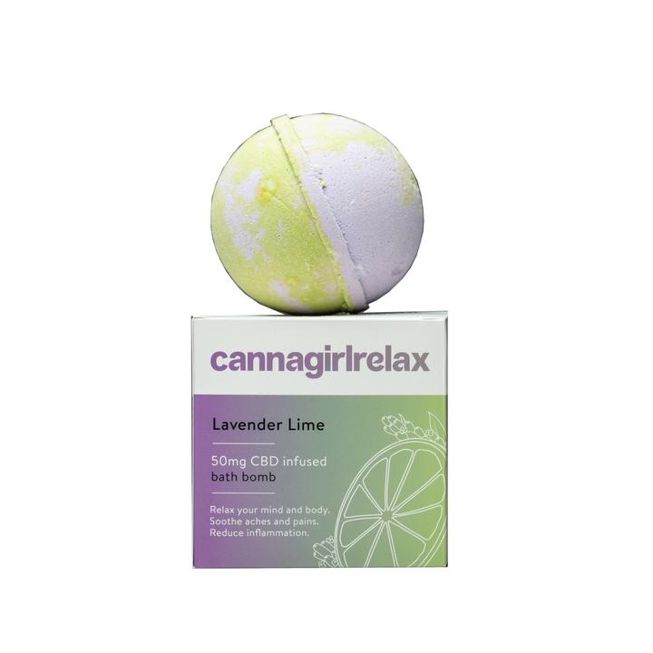 Cannasoothe - Lavender Lime Bath Bomb - All CBD Co