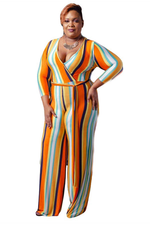 Chapelle Striped Jumpsuit