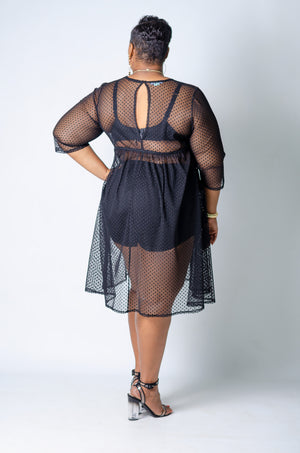 Mirage Sheer Top - Black