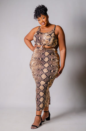 Python 2 Piece Skirt Set