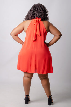 Niyah Swing Dress - Orange