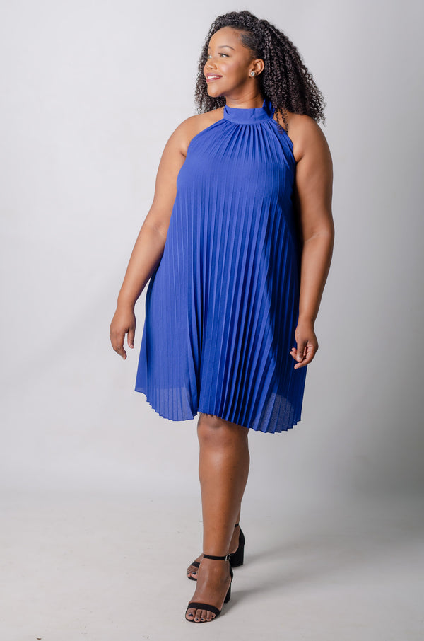 Niyah Swing Dress - Blue