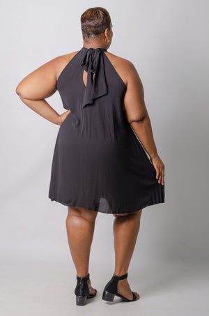 Niyah Swing Dress - Black
