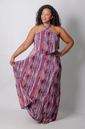 Illusion Maxi Dress