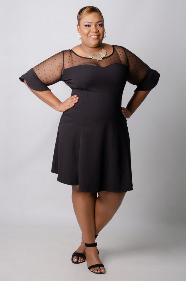 Harlen Flare Dress - Black