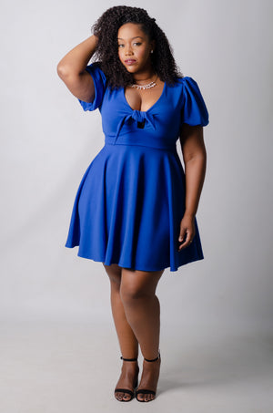 Kaelan Skater Dress - Blue