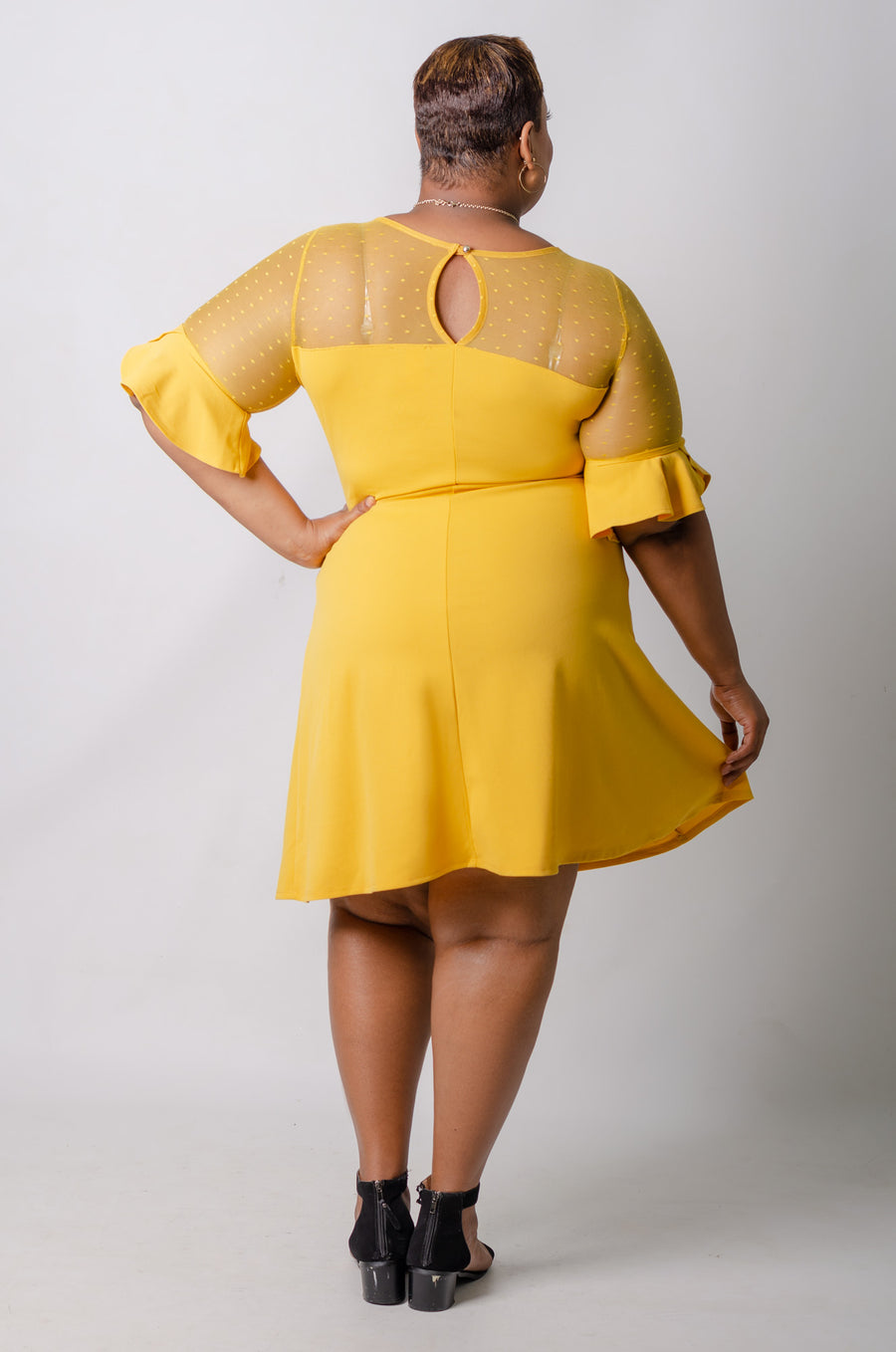 Harlen Flare Dress - Mustard
