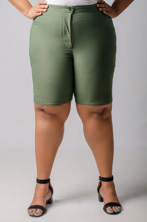 Phierce Fit Bermuda Shorts - Green