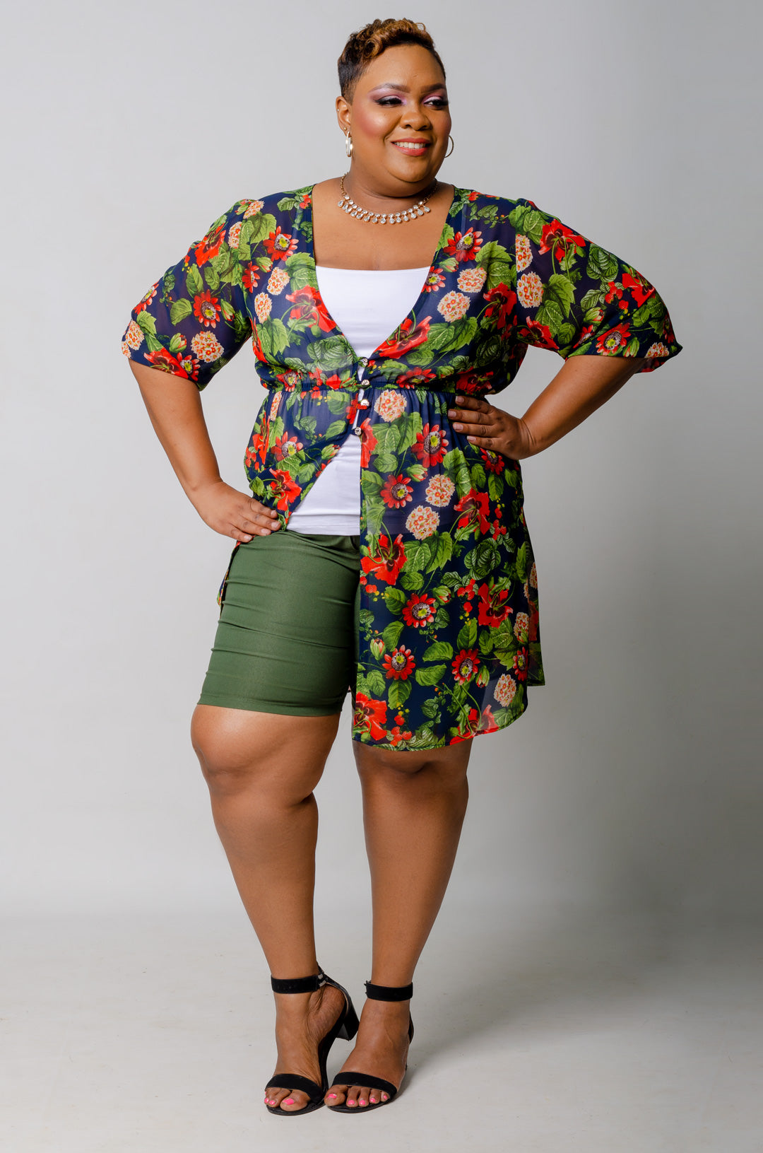 Lucia Floral Duster