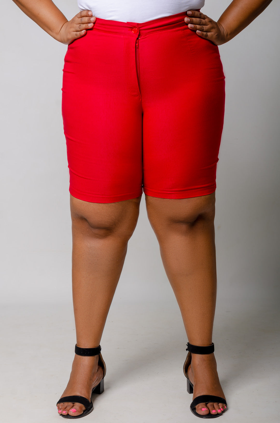 Phierce Fit Bermuda Shorts - Red