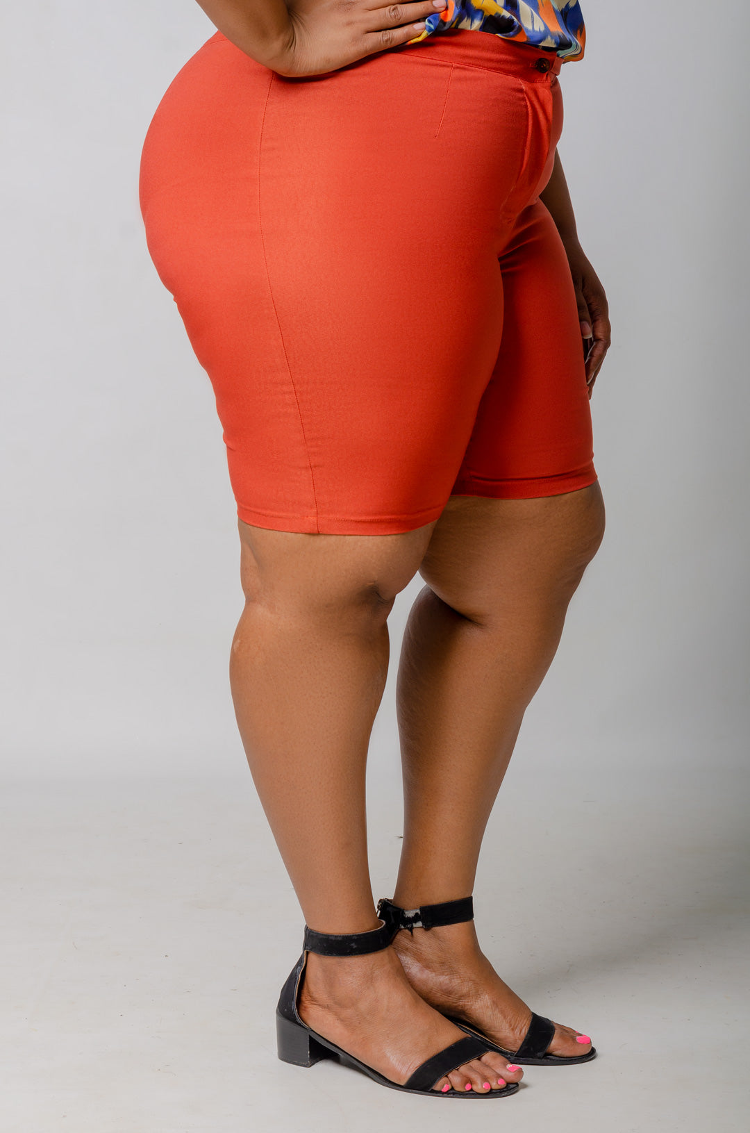 Phierce Fit Bermuda Shorts - Orange