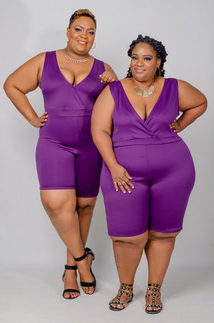 Victoria Romper - Purple