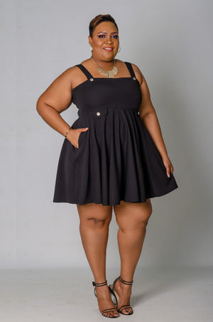 Sweetie Pie Skater Dress - Black