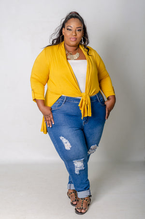 Casual Friday Cardigan - Mustard