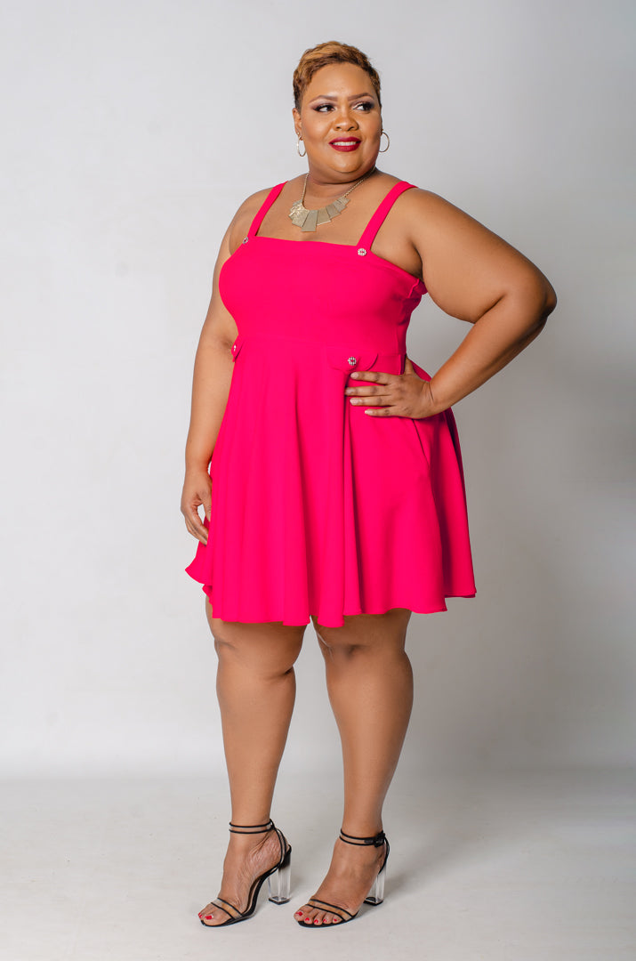 Sweetie Pie Skater Dress - Pink