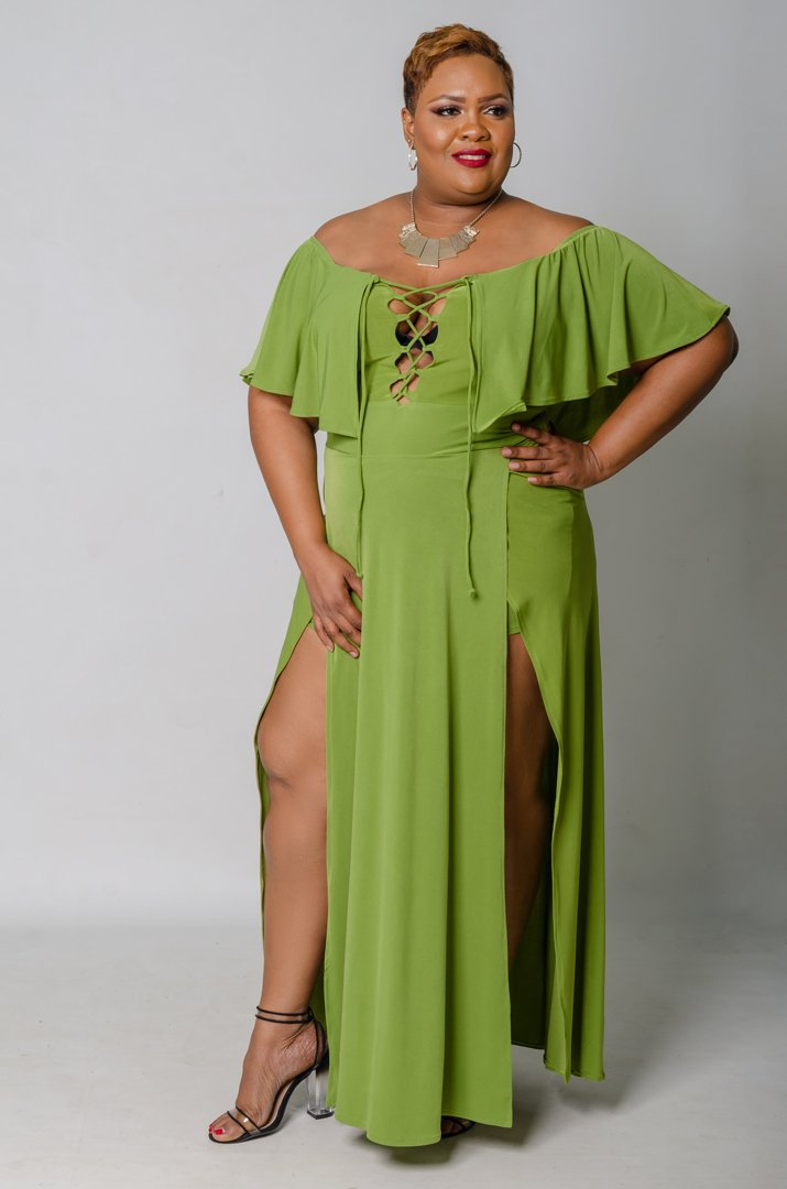 Unleashed Maxi Romper - Green