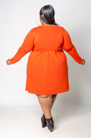 Day Trip Dress - Orange