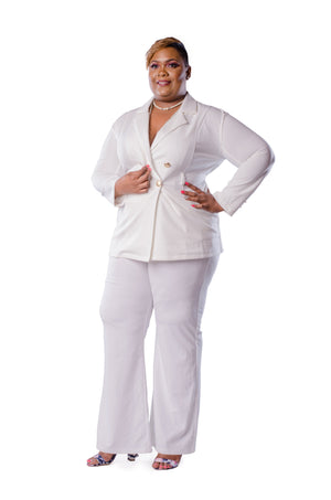 Nora Pant Set Set Phierce Plus White Size 0 to 1