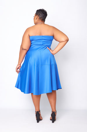 Lumi Flare Dress - Blue