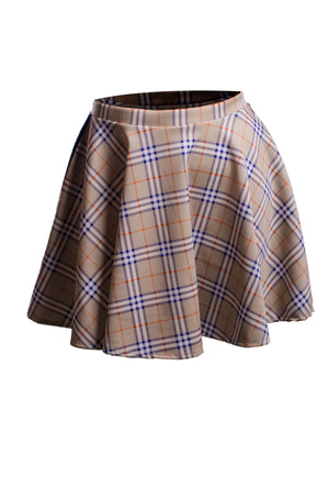 Kendall Plaid Skirt Bottoms Phierce Plus Beige Size 1