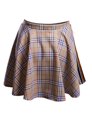 Kendall Plaid Skirt Bottoms Phierce Plus