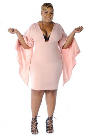 Suman Statement Dress Dress Phierce Plus Size 1 Blush Pink