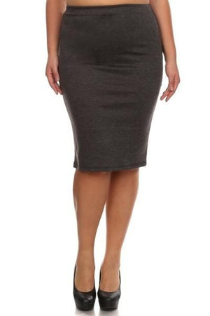 Conference Skirt Bottoms Phierce Plus Size 1 Charcoal