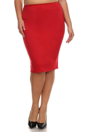 Conference Skirt Bottoms Phierce Plus Size 1 Red