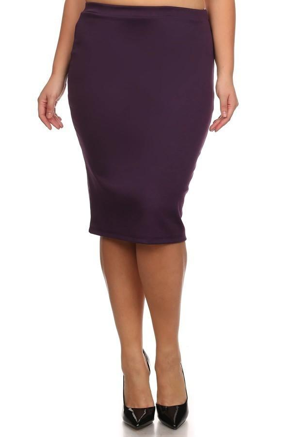 Conference Skirt Bottoms Phierce Plus Size 1 Purple