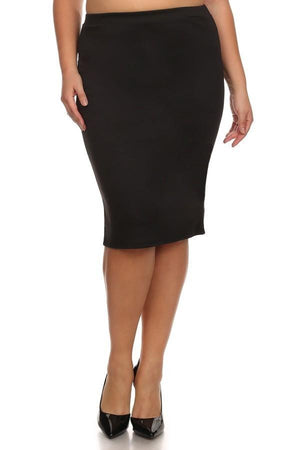 Conference Skirt Bottoms Phierce Plus Size 1 Black