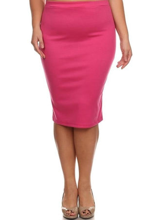 Conference Skirt Bottoms Phierce Plus Size 1 Pink