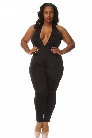 Yonce Jumpsuit Jumpsuit Phierce Plus Black Size 1