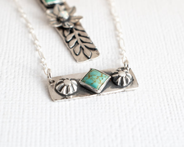 turquoise necklace small