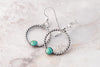 Turquoise Rope hoop earrings