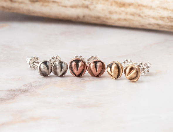 Tiny heart stud jewelry
