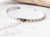 Tiny Heart Cuff Bracelet Silver and Copper