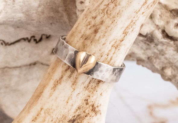Golden Heart Ring