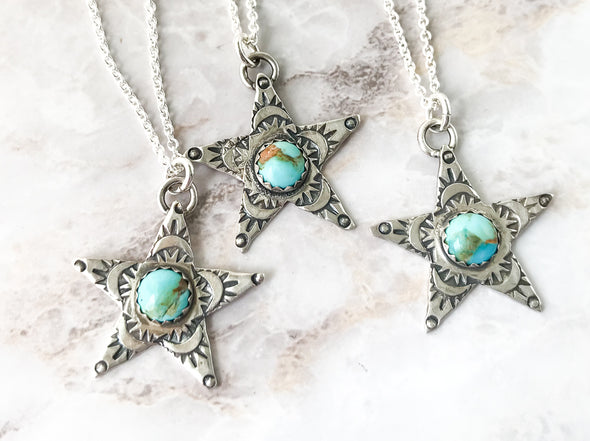 Turquoise Star Necklacce