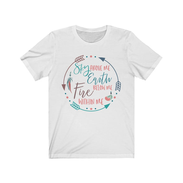 Sky Earth and Fire Jersey Short Sleeve Tee, Boho shirt, Inspirational T shirt for women