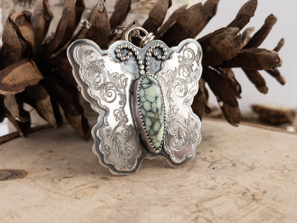 Variscite Butterfly Necklace