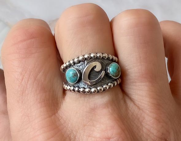 Turquoise Brand Ring - Custom western Ring