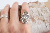 Sterling Oval Stampede Ring