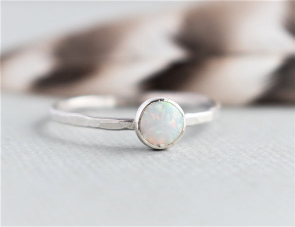 Delicate Opal Ring