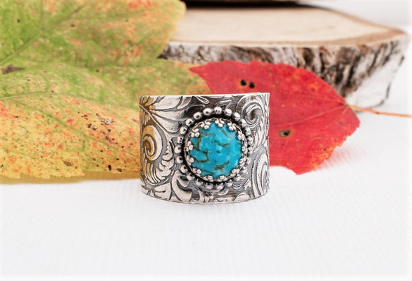 Turquoise Cigar Band Western Jewelry