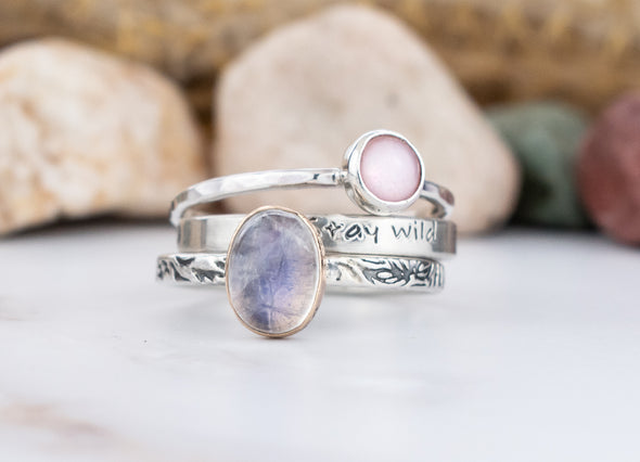 Pink Shell Stacking Ring