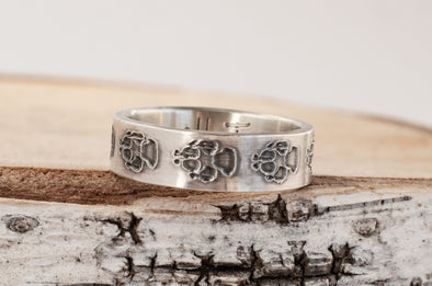Bear Paw Ring - Secret Message Option