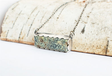 Variscite Bar Necklace