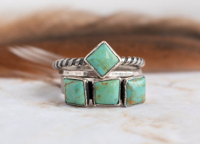Three Turquoise Ring Ready Made