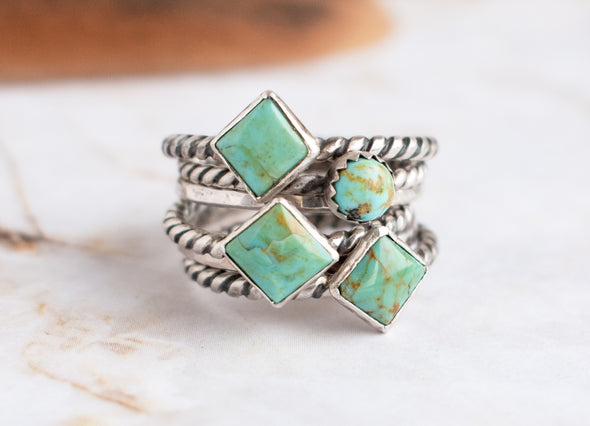 Rope Turquoise Ring