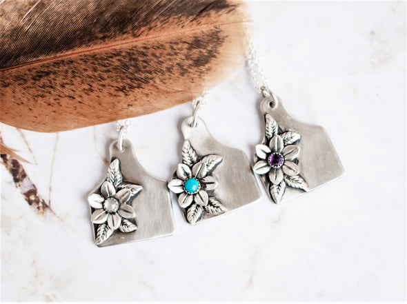 Cattle Ear Tag Garden Necklace